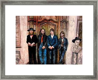 Beatles Hey Jude Framed Print by Leland Castro