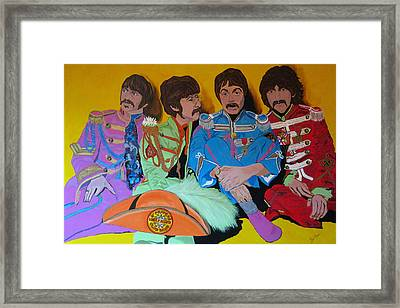 Beatles-lonely Hearts Club Band Framed Print by Bill Manson