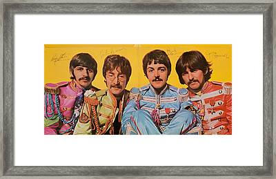 Beatles Sgt. Peppers Lonely Hearts Club Band Framed Print by Robert Rhoads