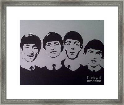 Beatles Framed Print by Tamir Barkan
