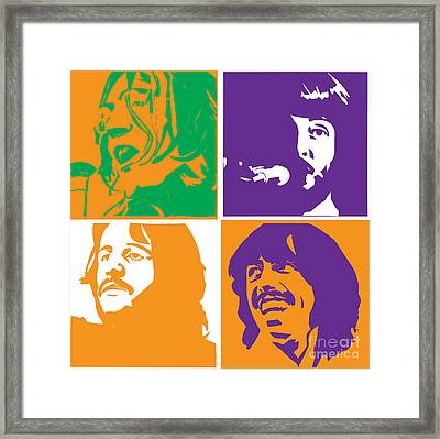 Beatles Vinil Cover Colors Project No.02 Framed Print by Caio Caldas