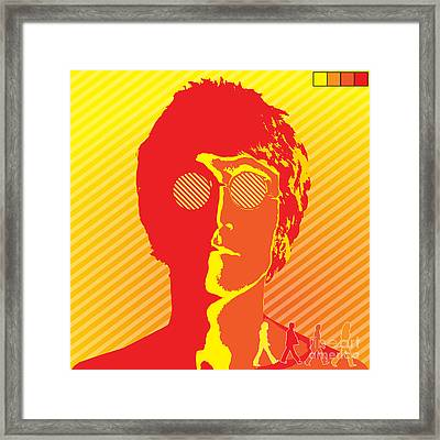 Beatles Vinil Cover Colors Project No.03 Framed Print by Caio Caldas