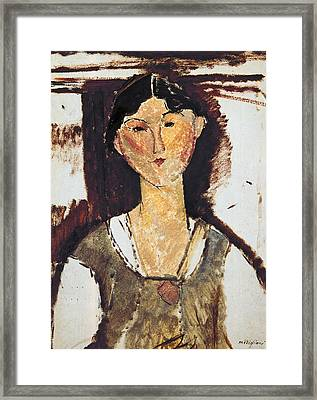 Beatrice Hastings Framed Print by Amedeo Modigliani