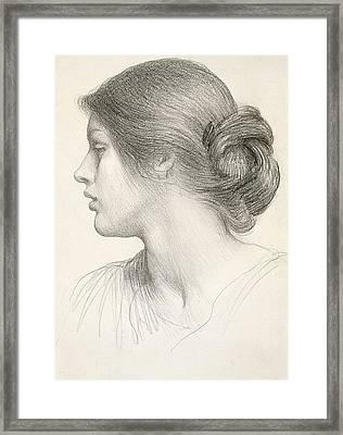 Beatrice Stuart Framed Print by Sir Frank Dicksee