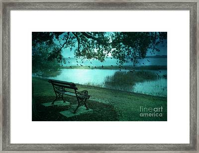 Beaufort South Carolina Surreal Ocean Inland Scene Framed Print by Kathy Fornal