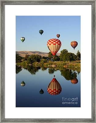Beautiful Balloon Day Framed Print by Carol Groenen