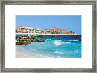 Beautiful Beach On The Sea Of Cortez Framed Print by John  Greaves