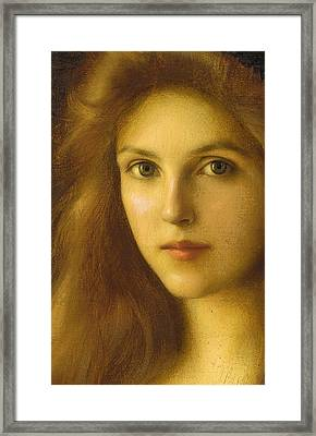 Beautiful Betty  Framed Print by Albert Lynch
