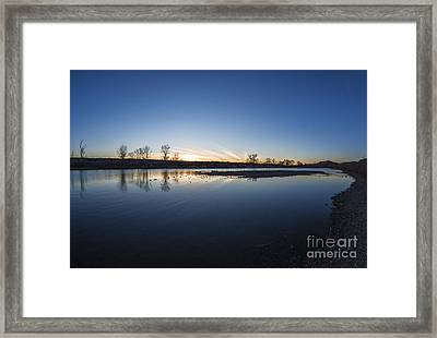 Beautiful Boise River In Boise Idaho Framed Print by Vishwanath Bhat