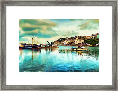 Beautiful Brixham Framed Print by Sharon Lisa Clarke