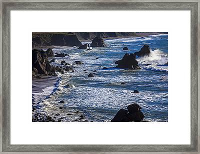 Beautiful California Coast Framed Print by Garry Gay