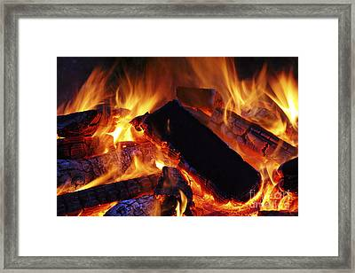 Beautiful Camp Fire Framed Print by Boon Mee