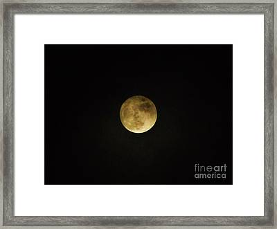 Beautiful Cloudy Moon Framed Print by D Hackett