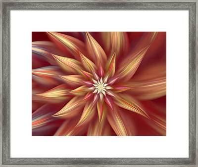 Beautiful Dahlia Abstract Framed Print by Georgiana Romanovna