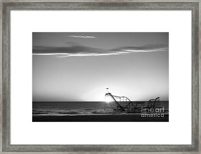 Beautiful Disaster Bw Framed Print by Michael Ver Sprill