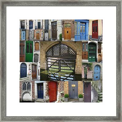 Beautiful Doors In London France And Belgium Framed Print by Cathy Jacobs