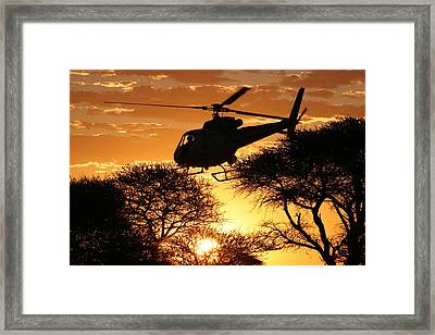 Beautiful Helicopter Framed Print by Paul Job
