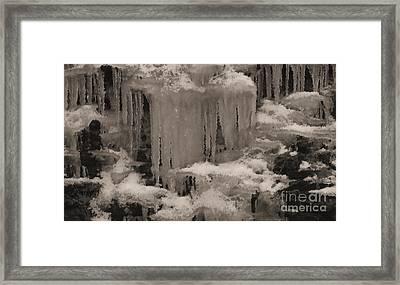 Beautiful Ice Framed Print by R McLellan