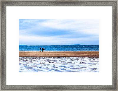 Beautiful Irish Beach On A Winter Day Framed Print by Mark E Tisdale