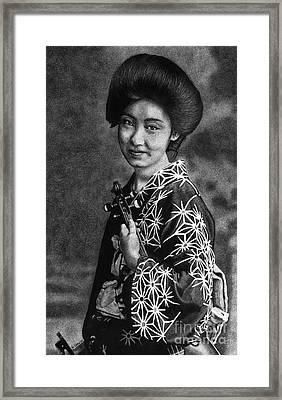 Beautiful Japan Framed Print by Sheryl Unwin
