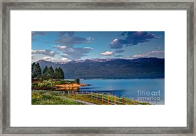 Beautiful Lake View Framed Print by Robert Bales