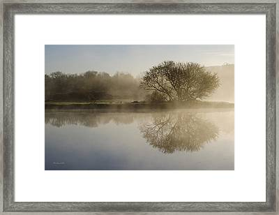 Beautiful Misty River Sunrise Framed Print by Christina Rollo