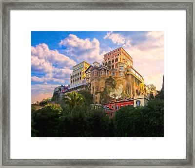 Beautiful Morning On The Italian Coast - Sorrento Framed Print by Mark E Tisdale