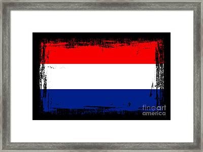 Beautiful Netherlands Flag Framed Print by Pamela Johnson