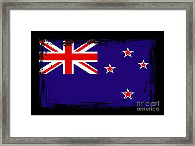 Beautiful New Zealand Flag Framed Print by Pamela Johnson
