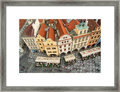 Beautiful Prague From Above - Lovely Old Houses Framed Print by Matthias Hauser