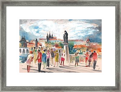 Beautiful Prague Framed Print by Miki De Goodaboom
