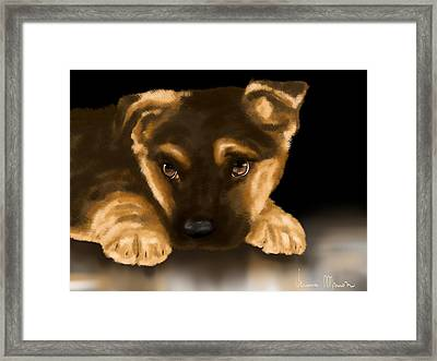 Beautiful Puppy Framed Print by Veronica Minozzi