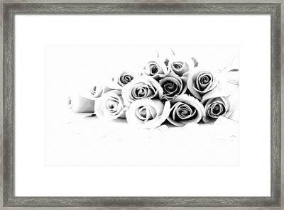 Beautiful Roses Framed Print by Subesh Gupta