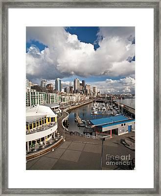 Beautiful Seattle Sky Framed Print by Mike Reid
