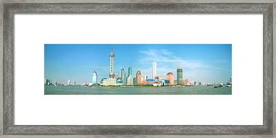 Beautiful Shanghai Pudong Skyline Framed Print by Lanjee Chee