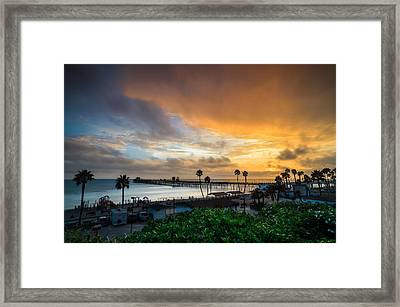Beautiful Southern California Sunset Framed Print by Larry Marshall