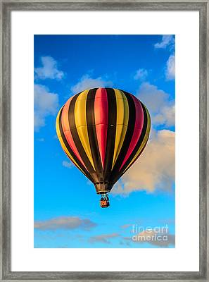 Beautiful Stripped Balloon Framed Print by Robert Bales