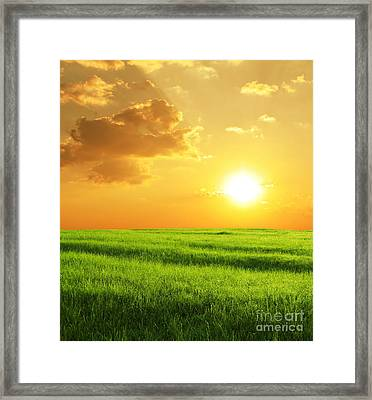 Beautiful Sunset Framed Print by Boon Mee