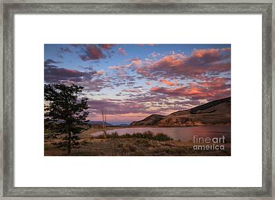 Beautiful Sunset Over Mackay Reservoir Framed Print by Robert Bales