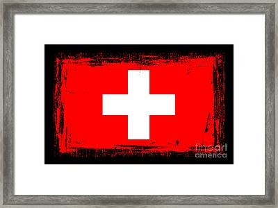 Beautiful Switzerland Flag Framed Print by Pamela Johnson