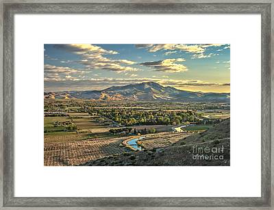 Beautiful Valley Framed Print by Robert Bales