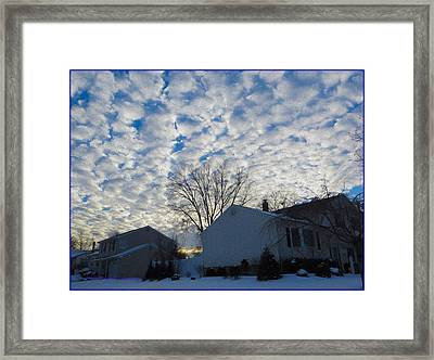 Beautiful Winter Day Framed Print by Sonali Gangane