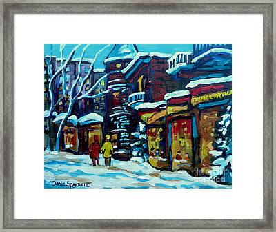 Beautiful Winter Evening Framed Print by Carole Spandau