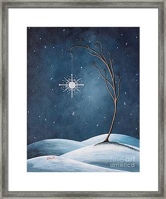 Beautiful Winterland By Shawna Erback Framed Print by Shawna Erback