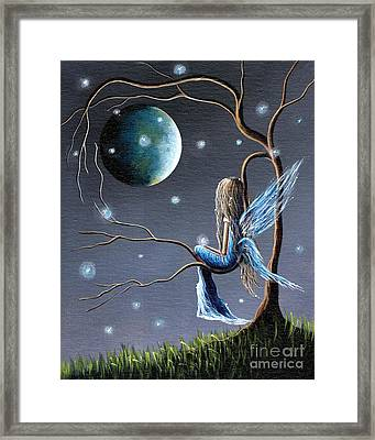 Fairy Art Print - Original Artwork Framed Print by Shawna Erback
