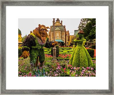 Beauty And The Beast Framed Print by Zina Stromberg