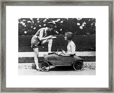 Beauty Contest Traffic Ticket Framed Print by Underwood Archives