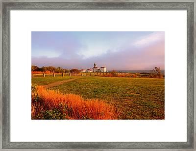 Beauty Emanates- Beavertail Paark Rhode Island Framed Print by Lourry Legarde
