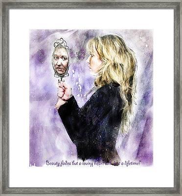 Beauty Fades Framed Print by Hazel Billingsley