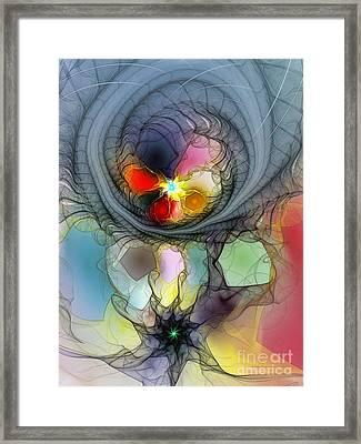 Beauty Flourishing In Obscurity Framed Print by Karin Kuhlmann